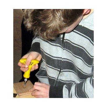 Toolkid Ergonomische schroevendraaier met schroefbotjes, speciaal voor een kinderhand