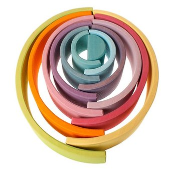 Grimms Regenboog van hout in pastel kleuren