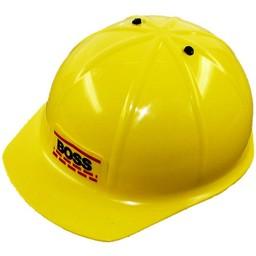 Kids at work kindergereedschap Gele helm voor kinderen Boss - hoofduitvoerder