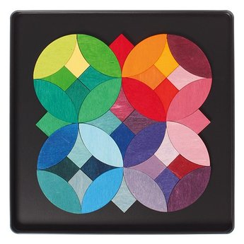 Grimms Mini magneetpuzzel Grafische cirkels