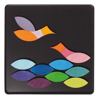 Grimms houten speelgoed Mini magneetpuzzel Grafische cirkels