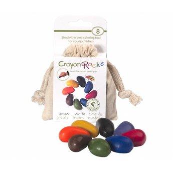 Crayon Rocks Crayonrocks, ecru katoenen zakje met 8 ecologische krijtjes