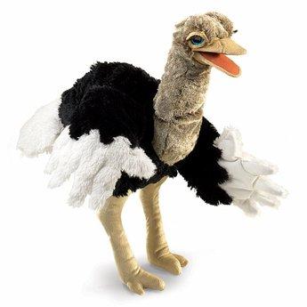 Folkmanis Grote realistische handpop struisvogel