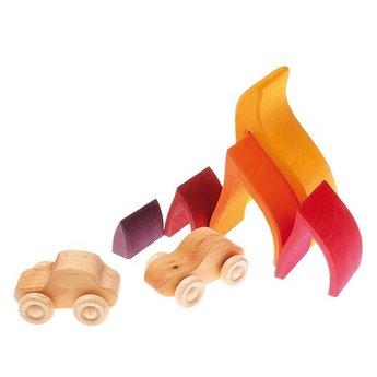 Grimms Stapel- en bouwblokken vuur