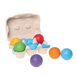 Grimms 6 gekleurde houten ballen