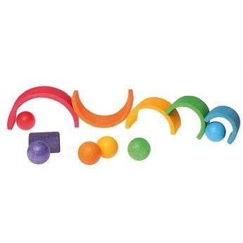 Grimms Zes (6) gekleurde houten ballen