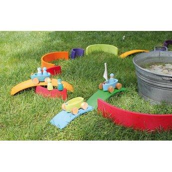 Grimms houten speelgoed Brug regenboog kleuren