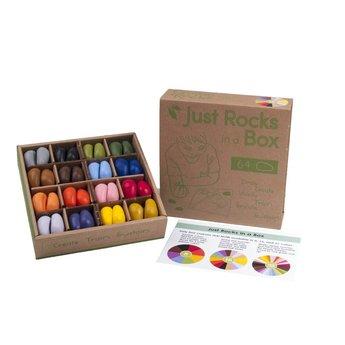 Crayon Rocks 64 Just Rocks - Sojawaskrijtjes in 16 kleuren in een stevige doos