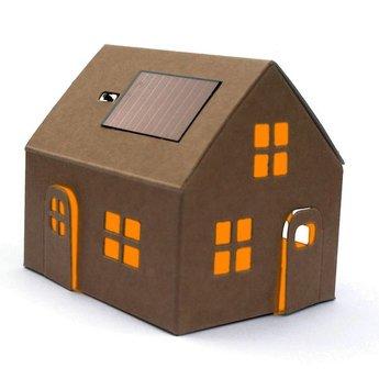 Litogami zonne-energie bouwpakketten Casagami original kraft - huisje kraft