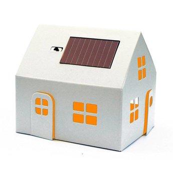 Litogami zonne-energie bouwpakketten Casagami imagine me - huisje wit om te schilderen en in te kleuren