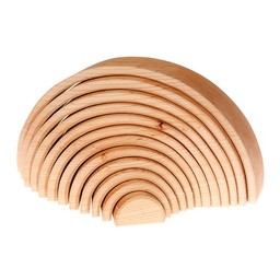 Grimms houten speelgoed Tunnel naturel - 12 delig