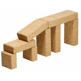 KORXX kurk blokken Negentien (19) bouwblokken van kurk in een starterset