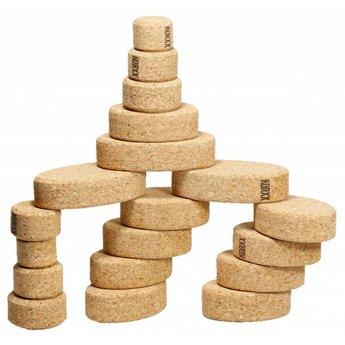 KorXX Twintig (20) ovalen kurk bouwblokken