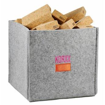 KORXX Zestig (60) rechthoekige bouwblokken met een viltbox