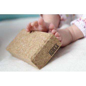 KORXX Tien (10) bouwblokken van kurk set baby