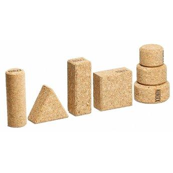 KORXX kurk blokken Eenentwintig (21) verschillende vormen naturel bouwblokken