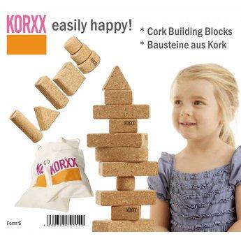 KorXX Eenentwintig (21) verschillende vormen naturel bouwblokken