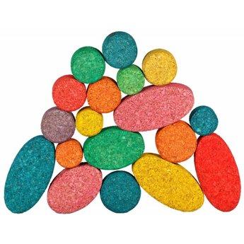KorXX Twintig (20) gekleurde kurk vormen ovaal