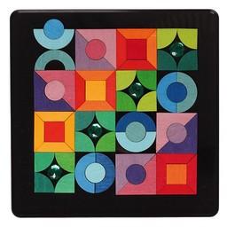 Grimms Magneetpuzzel driehoek, vierkant en cirkel met diamant