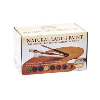 Natural Earth Paint Complete ecologische olieverf startset inclusief 10 kleuren pigment