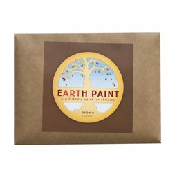 Natural Earth Paint natuurlijke kinderverf en kunstverf Children's Earth Paint per kleur -  bruin