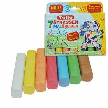 Kids at work Stofvrij stoepkrijt in mooie kleuren