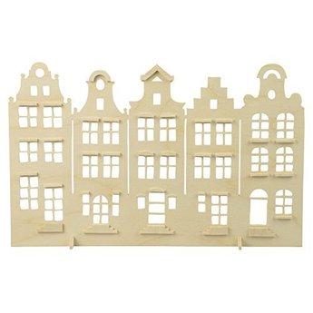 Pebaro knutselgereedschap Grachtenhuisjes figuurzagen vanaf een A4 multiplex plaat.