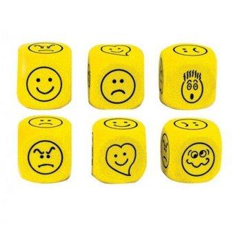 Divers Dobbelsteen emoties in kleur geel