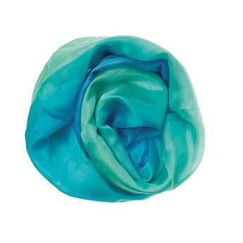 Sarah's Silk speelzijde Play silk in oceaanblauw