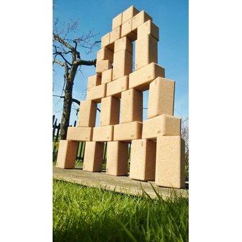 KORXX Big Blocks 28 stuks grote kurk bouwblokken