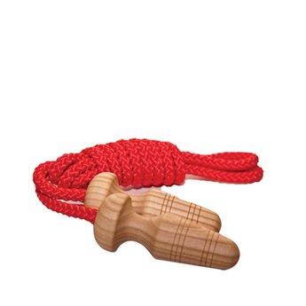 Mader houten tollen Springtouw met houten handvat 2,6 meter