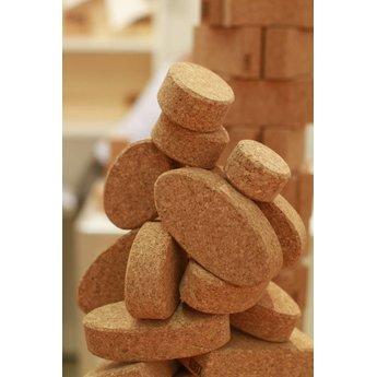 KORXX kurk blokken Twintig (20) ovalen bouwblokken van kurk