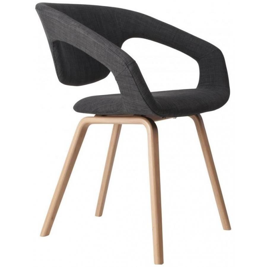 Zuiver flex back stoel naturel donkergrijs for Zuiver stoelen