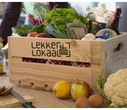 Kistje van LekkerLokaal met biologisch voedsel geproduceerd in het Rijk van Nijmegen