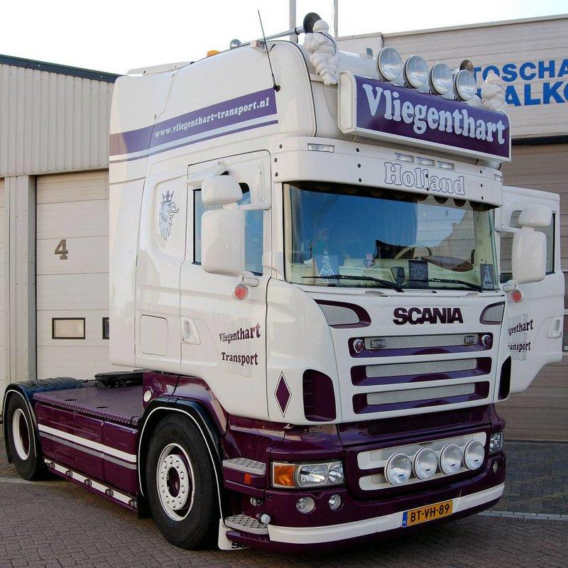 Zonneklep type 1-A voor Scania R-serie met Topline cabine