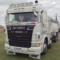 Zonneklep type 3-D voor Scania R-serie met Highline cabine