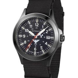 KHS Tactical Watches Black Platoon H3 - Automatik mit schwarzen Natoband