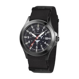 KHS Tactical Watches Black Platoon H3 - Automatik mit schwarzen Natoband