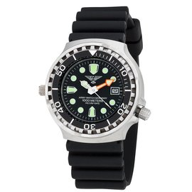 Army Watch Taucheruhr 100 ATM (PU-Band) Schwarzes Zifferblatt
