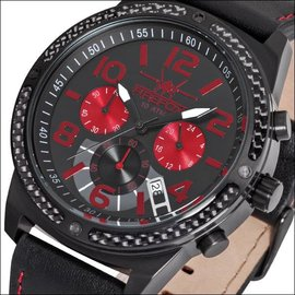 Firefox Watches  FIREFOX SKYDIVER chronograph,  black