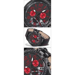 Firefox Watches  High-grade steel FIREFOX SKYDIVER chronograph FFS20-102C / black