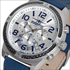 Firefox Watches  Skydiver Edelstahl Chronograph - silber / blau