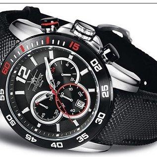 Firefox Watches  FALCON High-grade steel chronograph  black, FFS180-102
