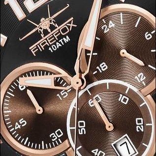 Firefox Watches  FALCON Edelstahl Chronograph, rosevergoldet FFS185-102