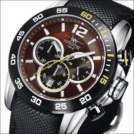Firefox Watches  FALCON High-grade steel chronograph, chestnut brown / black