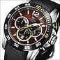 Firefox Watches  FALCON High-grade steel chronograph, chestnut brown / black, FFS180-106