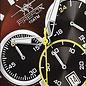 Firefox Watches  FALCON Edelstahl Chronograph,kastanie/schwarz, FFS180-106