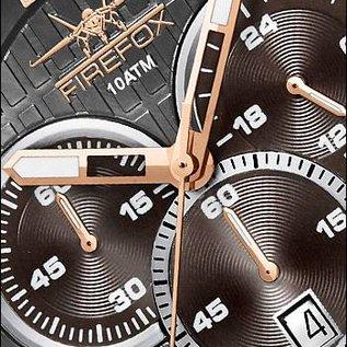 Firefox Watches  GADGET Edelstahl Chronograph FFS190-104 schwarz/rosegold