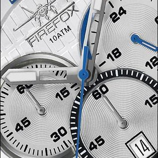 Firefox Watches  Firefox GADGET High-grade Stainless Steel Chronograph FFS190 -106 silver gray.