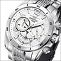 Firefox Watches  FIREFOX SKYWALKER Stainless Steel Chronograph / silver-white / FFS220-101